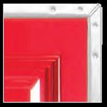 Red Platinum GRP Side-Hinged garage door on white chassis