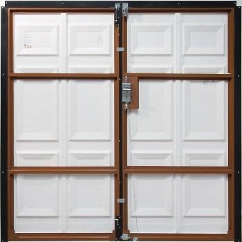 Inside view of Fort GRP Side-Hinged Garage Doors