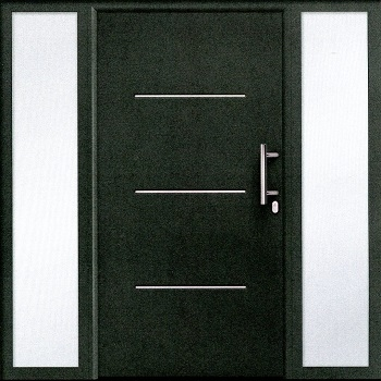 Hormann THP515 Front Door in Titan Metallic with side elements