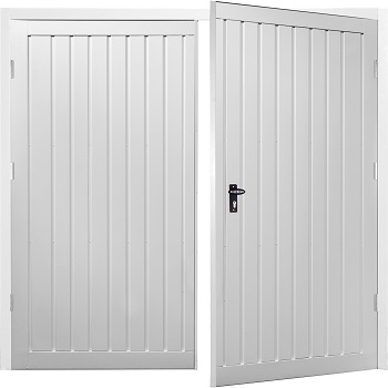 Fort Drayton Vertical Steel Side-Hinged Garage Doors
