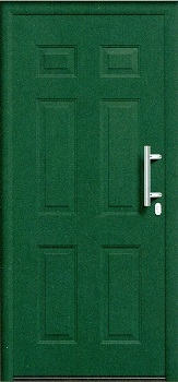 THP 100 Front Door in Moss Green RAL 6005