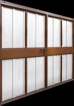 Rear of Wessex Platinum GRP Side-Hinged garage doors