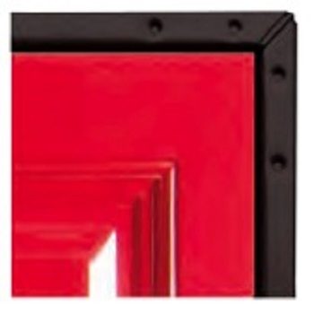 Red Platinum GRP Side-Hinged garage door on Black chassis