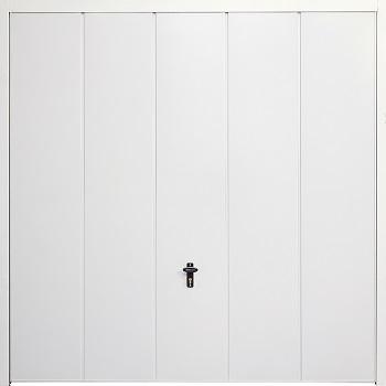 Fort Vertical Wide Rib Steel Side-Hinged Garage Doors
