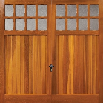 Fort Bamburgh Cedarwood Timber Garage Door