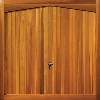 Fort Sheringham Cedarwood Timber Garage Door