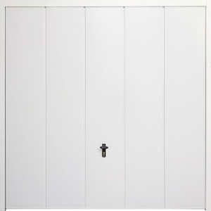 Fort Vertical Wide Rib Steel Side-Hinged Garage Doors