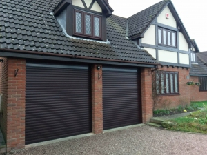 A1: Aluroll Classic insulated roller shutter in painted Rosewood finish