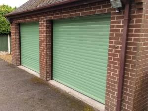 A1: Aluroll Classic insulated roller shutter in Sage Green