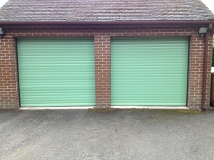 G: Aluroll Classic insulated roller shutters in Sage Green