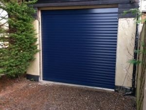 A1: Aluroll Classic insulated roller shutter in Steel Blue
