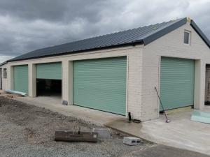 Y: Aluroll Elite roller shutter doors in Chartwell Green