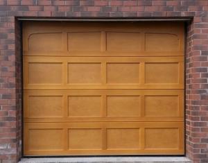 J: Cedar Door Bradwell sectional in Light Oak finish