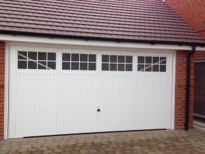 F1: Garador Salisbury double up & over steel garage door