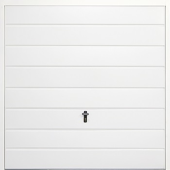 Fort Horizontal Medium Rib Steel Side-Hinged Garage Doors