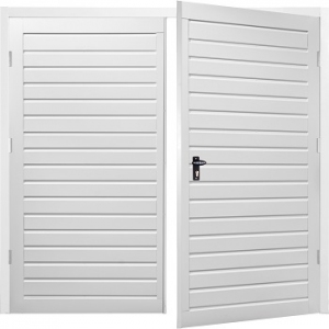 Fort Drayton Horizontal Steel Side-Hinged Garage Doors