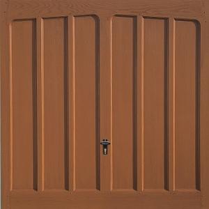 Fort Monmouth GRP Woodgrain garage door