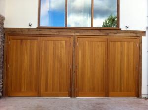 V: Pair of Cedar Door Bakewell side-hinged doors in cedar