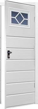 Fort Chester Horizontal Medium Rib Steel Side Doors with Windows