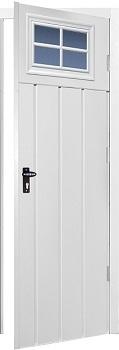 Fort Chester Vertical Medium Rib Steel Side Doors with Windows