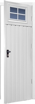 Fort Chester Vertical Standard Rib Steel Side Doors with Windows