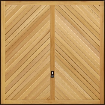 Garador Chevron Cedarwood Garage Door