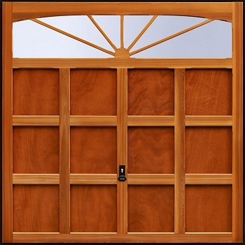 Garador Hinton Cedarwood Garage Door