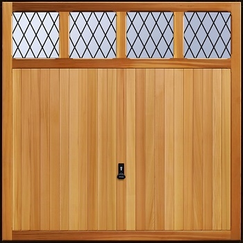 Garador Sandhurst Cedarwood Garage Door