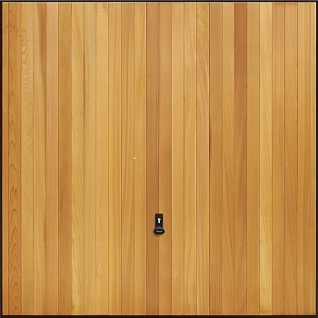 Garador Vertical Cedarwood Garage Door