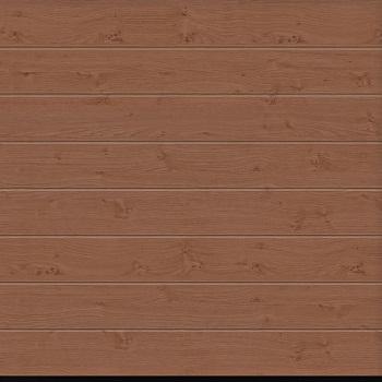 Garador Linear Medium Premium Foil Coated Sectional Garage Door in Winchester Oak