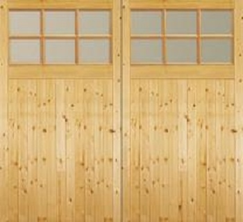 Jeldwen Softwood Side-Hinged garage doors with windows