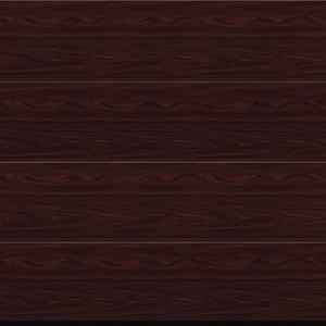 Garador Linear Large Premium Foil Coated Sectional Garage Door in Rosewood