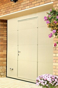 Alutech Woodgrain Sectional Garage Door with Wicket