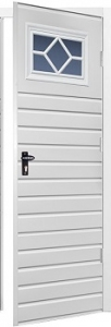 Fort Chester Horizontal Standard Rib Steel Side Door with Windows