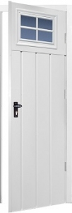 Fort Chester Vertical Medium Rib Steel Side Door with Windows