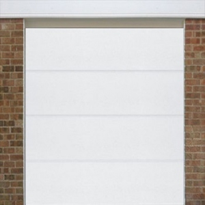 Alutech L-Ribbed Woodgrain sectional garage door