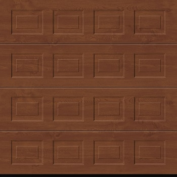 Garador Georgian Premium Foil Coated Sectional Garage Door in Golden Oak