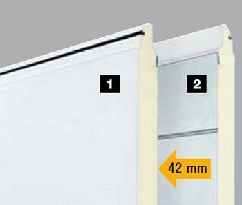 Renomatic 42mm section showing galvanized inner surface