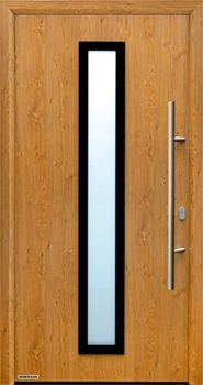 Hormann ThermoPlus THP 600 front door in Golden Oak