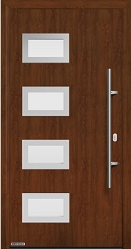 Hormann ThermoPlus THP 820 front door in Dark Oak