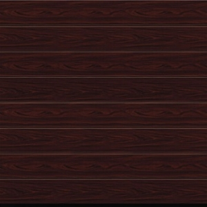 Hormann M-ribbed Rosewood Decograin LPU67 Insulated Sectional Garage Door