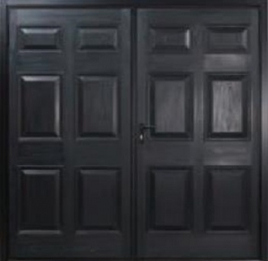 Garador Kenmore GRP Side Hinged Garage Door in Ebony