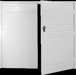Fort Horizontal Medium Rib Steel Side-Hinged Garage Doors