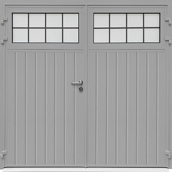 Carteck Traditional Standard Vertical-Rib Side-Hinged in Grey