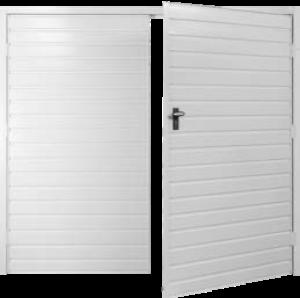 Fort Horizontal Standard Rib Steel Side-Hinged Garage Doors