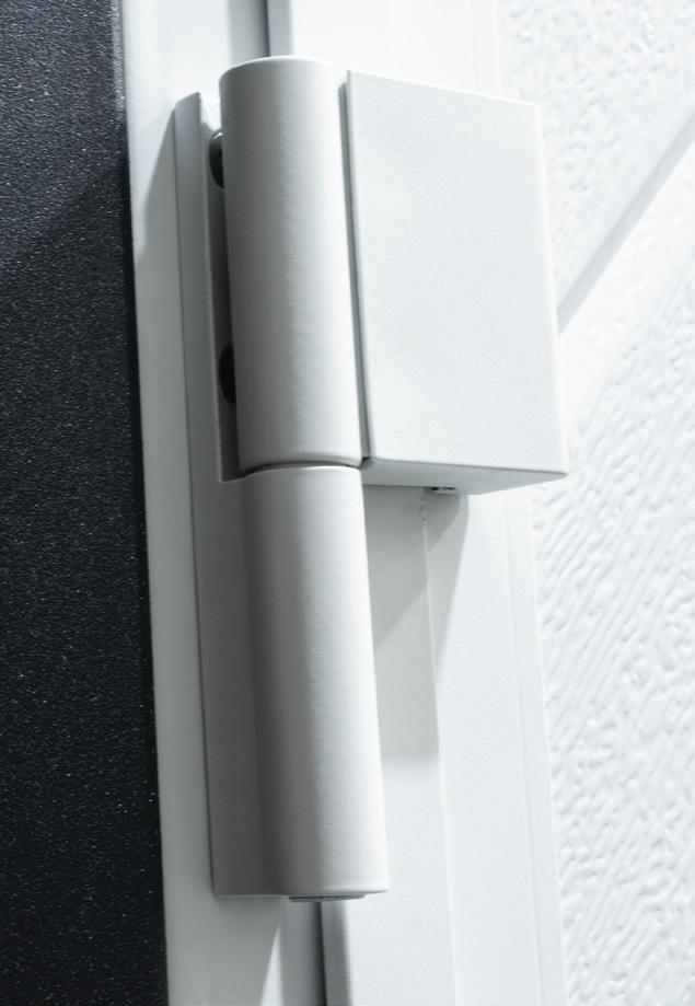 aluminium hinges in White