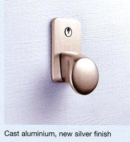 Hormann Silver Finish Handle and Lock Kit for Sectional Door