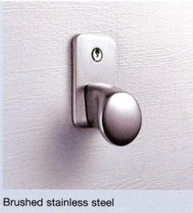 Hormann Brushed Stainless Steel Handle  Lock Kit for Sectional Door