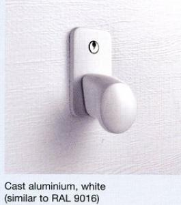 Hormann White Finish Handle  Lock Kit for Sectional Door