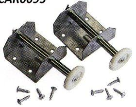 Pair of Door Spindle & Bracket Assemblies for Double Doors